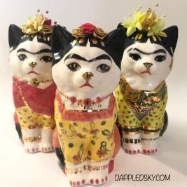 Frida Kahloinspired ceramic cats