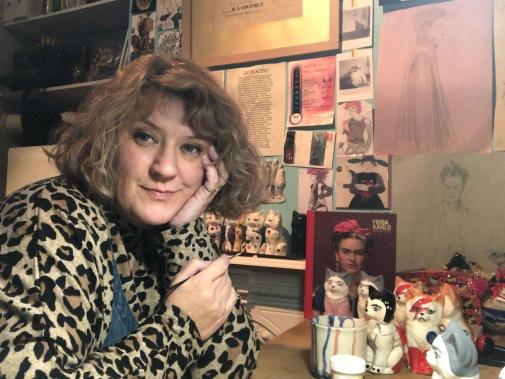 Deborah in the studio
